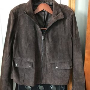 Anne Klein brown suede jacket